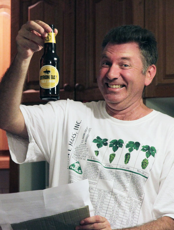 Pete Mitcham with his favourite beer