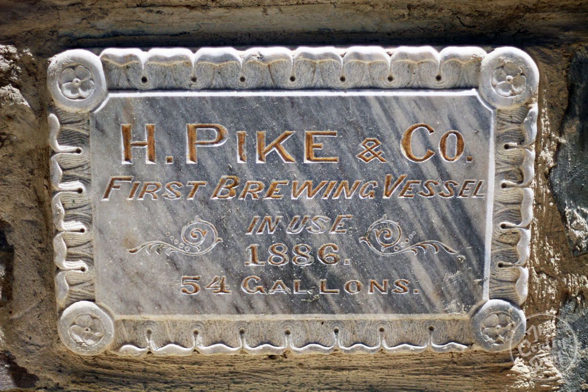 Henry Pike brewing plaque in Clare Valley