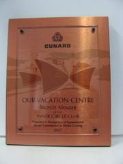 Cunard Cruise Line Bronze Member of the Inner Circle 2007