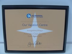 Azamara Club Cruises Gold Agent 2011
