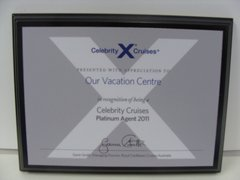 Celebrity Cruises Platinum Agent 2011