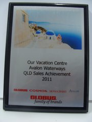 Globus Tours QLD Sales Achievement 2011