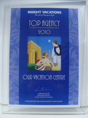 Insight Vacations Top Agency 2010