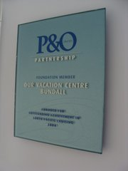 P&O Cruises Outstanding Achievement 2004