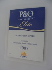 P&O Cruises Outstanding Sales Achievement 2007