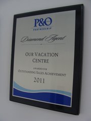 P&O Cruises Outstanding Sales Achievement 2011