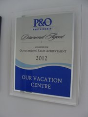 P&O Cruises Outstanding Sales Achievement 2012