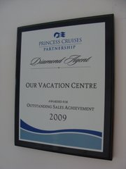 Princess Cruises Outstanding Sales Achievement 2009