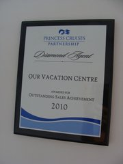 Princess Cruises Outstanding Sales Achievement 2010