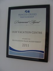 Princess Cruises Outstanding Sales Achievement 2011