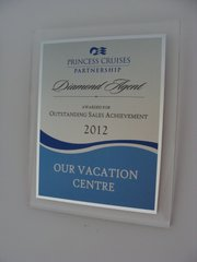 Princess Cruises Outstanding Sales Achievement 2012