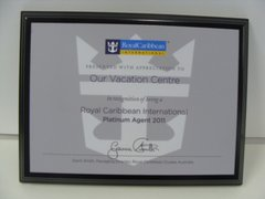 Royal Caribbean Cruises Platinum Agent 2011