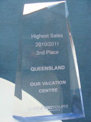 Scenic Tours Highest Sales 2010 - 2011