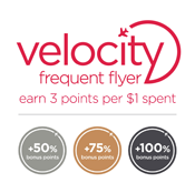 Earn Points with Velocity Frequent Flyer