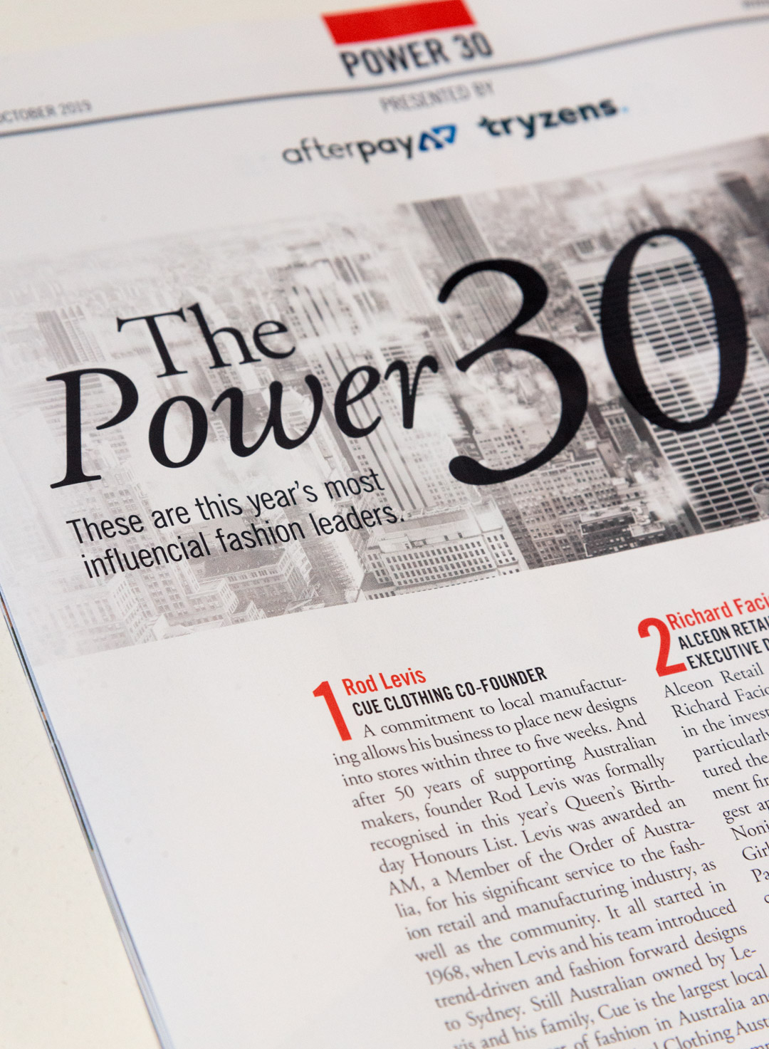 Cue Founder, Rodney Levis, awarded top position in Ragtrader's 'Power 30' list!