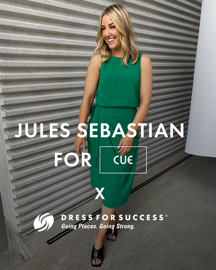 Jules Sebastian for Cue x Dress for Success