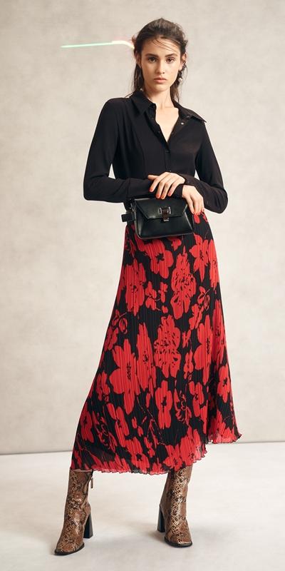 Skirts | Pleated Poppy Midi Skirt