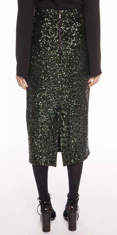 Skirts | Sequin Mesh Midi Skirt