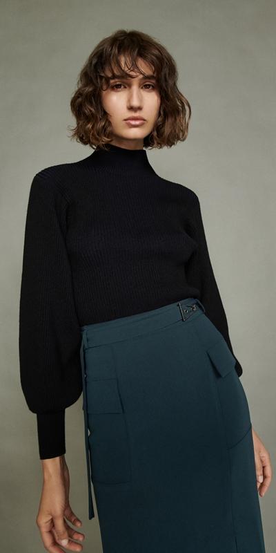 Skirts | Teal Belted Midi Skirt