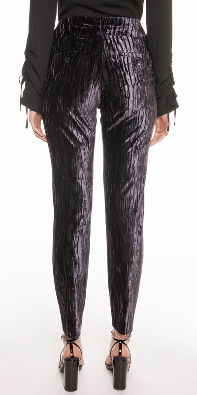 Pants | Metal Mauve Velvet Trouser