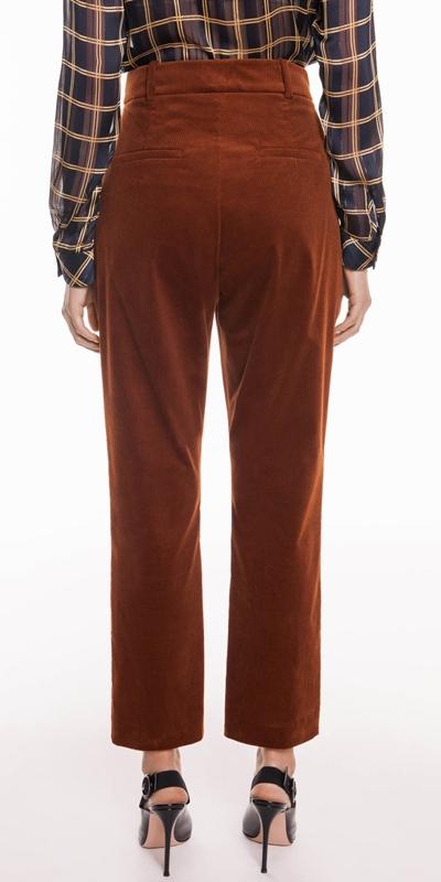 Pants   Corduroy Slim Leg Trouser