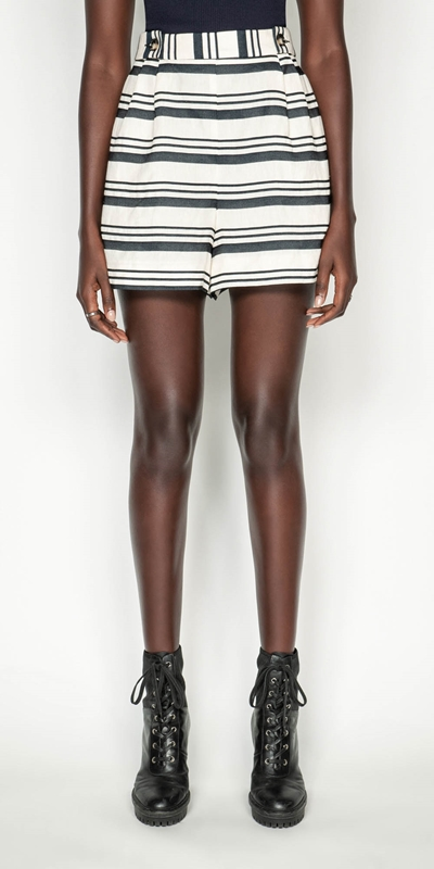 New Arrivals | Striped Linen Short