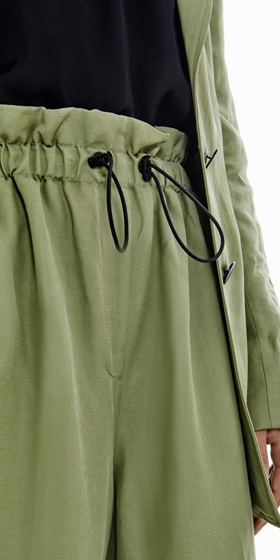 Pants | Cropped Toggle Waist Pant
