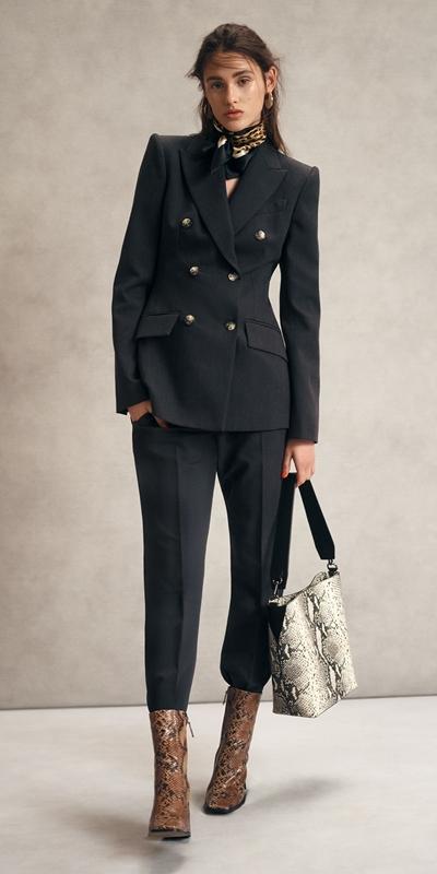 Jackets   Charcoal Melange Blazer