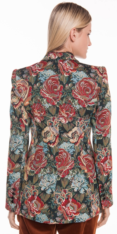 Jackets | Tapestry Jacquard Double Breasted Jacket