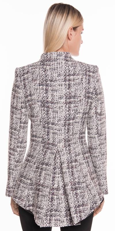 Jackets | Boucle Zip Front Jacket
