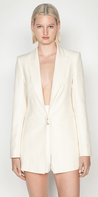 Jackets and Coats   Cut Out Back Blazer