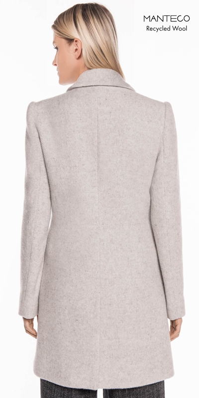 Coats | Textured Wool Double Breasted Coat
