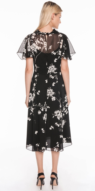 Dresses | Cherry Blossom Georgette Midi Dress