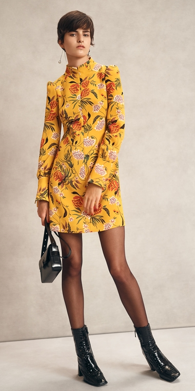 Dresses | Golden Wallpaper Floral Dress