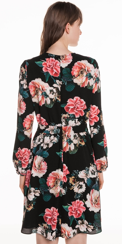 Dresses | Textured Rose Keyhole Dress