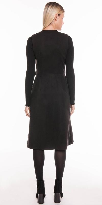 Dresses   Velvet Felt Wrap Dress