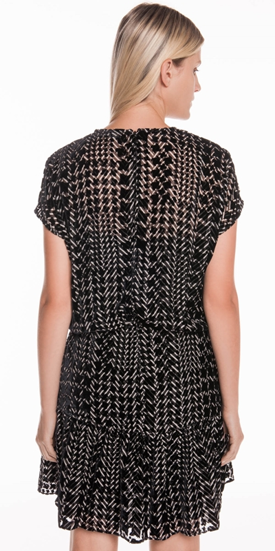 Dresses | Silk Houndstooth Burnout Dress