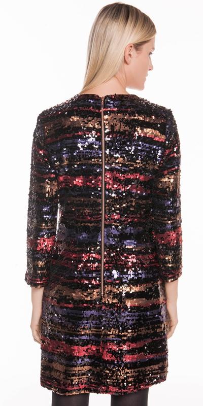 Dresses | Metallic Shimmer Sequin Shift Dress