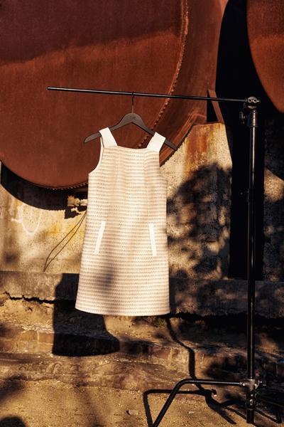 Dresses | Cotton Boucle Stripe Shift Dress