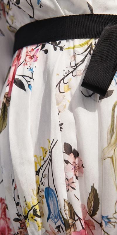 Dresses | Oriental Blossom Blouson Sleeve Dress