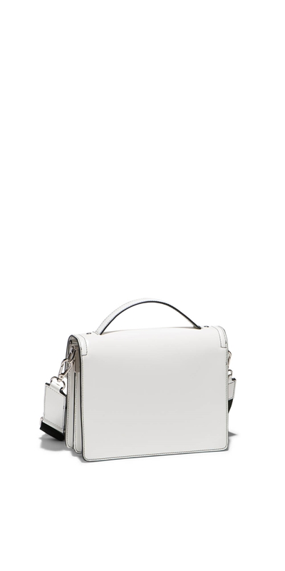Accessories   Topstitched Cross Body Bag