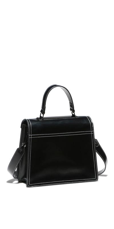 Accessories | Topstitched Satchel Bag
