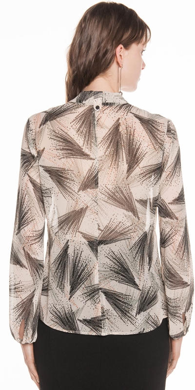 Shirts | Abstract Fireworks Georgette Shirt