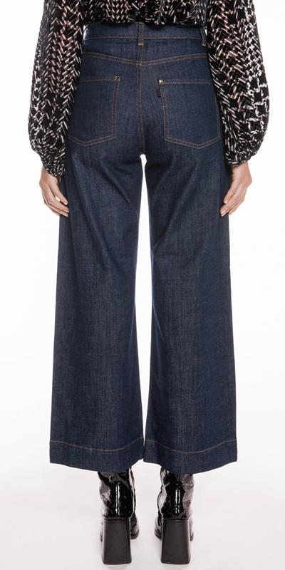Pants | Organic Cotton High Waist Crop Wide Leg Jean