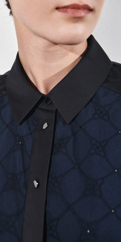 Shirts | Stitched Broderie Shirt