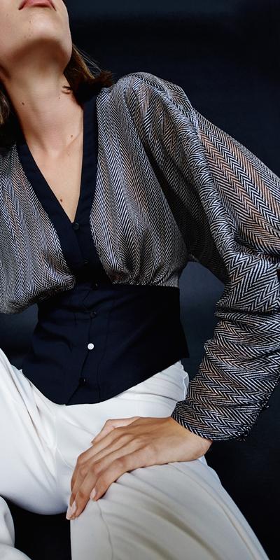 Tops | Herringbone Magyar Sleeve Top