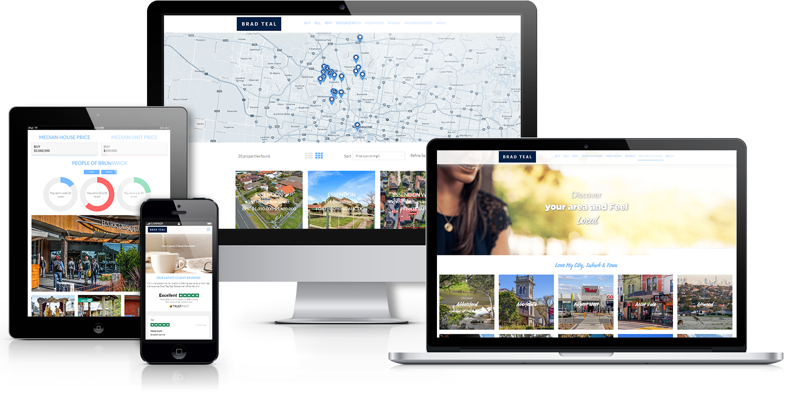 Brad Teal Website Design - Real Estate Websites