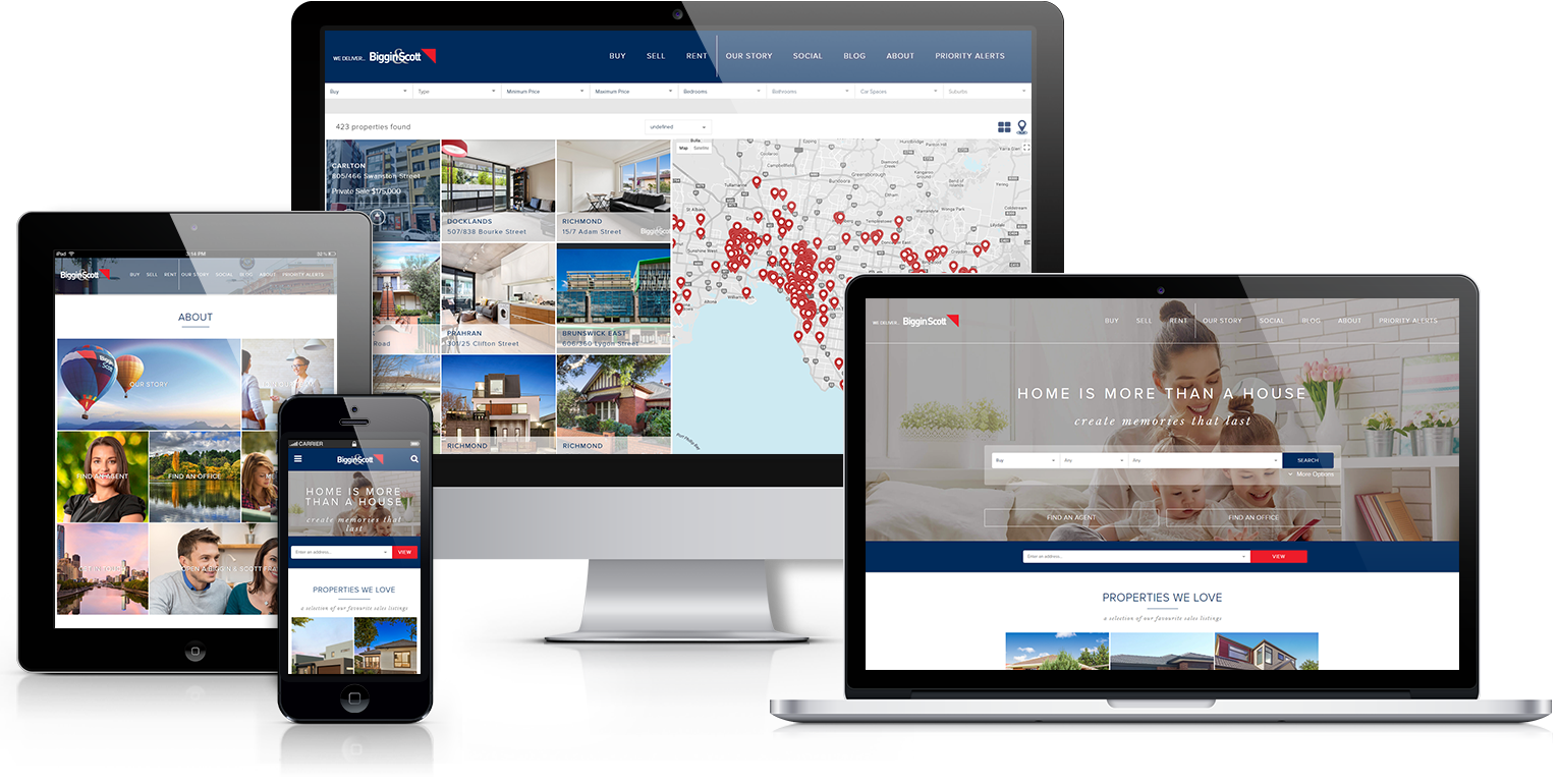 Biggin and Scott Website Design - Real Estate Websites