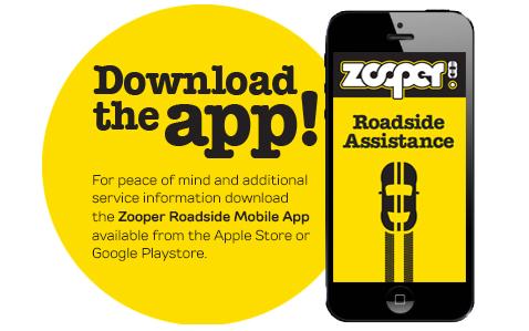Zooper 24/7 Roadside Assistance App
