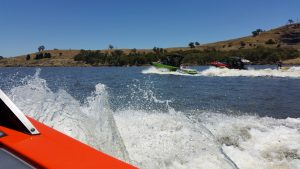My view from a Malibu Boat on Lake Hume